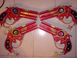 my finished Bayonetta guns by SandySuicide
