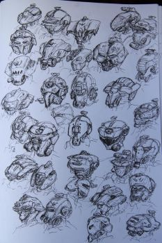 Assault infantry heads by fish333