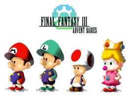 Final Fantasy...ADVENT BABIES by UncleLaurence