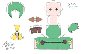 VOCALOID Sonika Papercraft by Kuera234