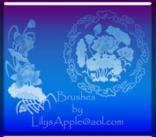 2 Lg PS  Chinese Flowers by LilysApple