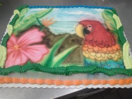 Parrot Cake by AingelCakes