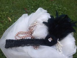 Take Me Away 1920s Flapper Headband by paradiseshoretwins