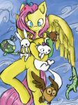 Fluttershy love pets by Mlle-Honey