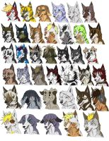 Ginga OC's Lot 1 by KasaraWolf