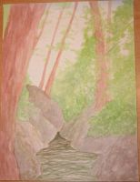 watercolor forest by SerenadeStrong