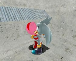 Silver and Amy Kiss in Gmod by xChaseTheHedgehogx