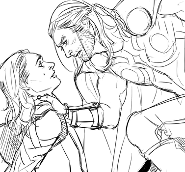 thorki doodle by Tahiddy