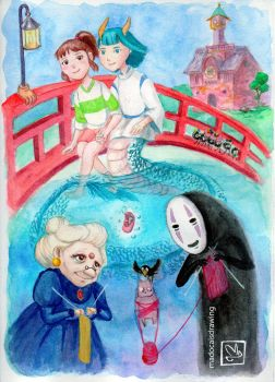 Spirited Away by MadocaArt