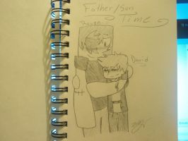 Father/Son Time by SuperKittey