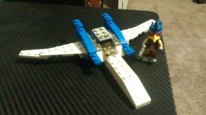 Lego arwing (with falco minifigure) by mechanicalraven56