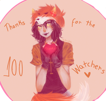 FOR MY WATCHERS: THANKS FOR THE +100 WATCHERS by KillerShinigami