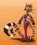 Coalt, The feathered Coral Snake Witch by Wouhlven