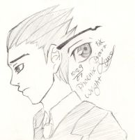Phoenix Wright Sketch by chiyokins