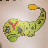 Caterpie Pokemon drawing by Megalomaniacaly