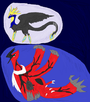 Dragon vs dragon pokemon inspired by Kamixazia