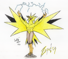 Zapdos - color by Chobaryu