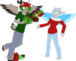 A Clumsy Reindeer - Open Collab~ by BIueMoon