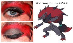 Pokemakeup 571 Zoroark by nazzara