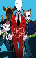 Slender's Reindeers by Alloween