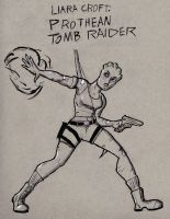 Liara Croft: Prothean Tomb Raider by TheNoirGuy