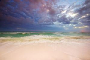 Twilight Beach Stock by little-spacey