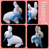 Pink Bunny Plush by Karehn
