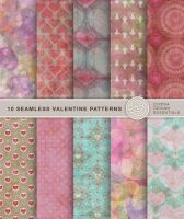 10 Seamless Valentine Patterns by Divenadesign
