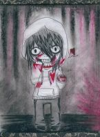 Chibi Jeff the Killer! by DarkGothicRussia555