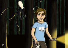PewDiePie and Slender Man by ShadowCat451