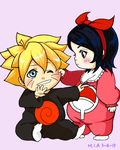 Babies and Onesies: Uchiha Sarada + Uzumaki Boruto by I-am-M-i-A