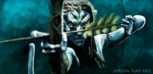 Neytiri in Battle by ChristyTortland