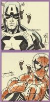MarchofDimes Cap Spidey cards by thejeremydale