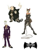 Batman Rogues by marcusmuller