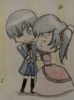 Chibi Ciel and Robin by nobodygirlxy
