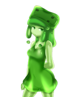 minecraft mob: medium slime (tired) by patrickwright15