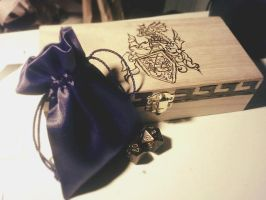 Wooden Jewelry Dice box by DraconiaShelik