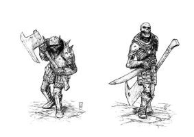 Dungeon skeletons by Jagoba