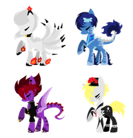 Pony Adopts 4 by mlpdarksparx
