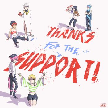 Thanks For The Support by WhytManga