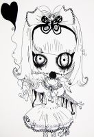 Creepy Little Girl by ragamuffinlover