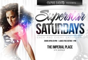 Superstar Party Flyer-White by ImperialFlyers
