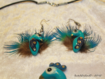 Earrings of the peacock set by AnimalisCreations