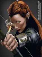 Digital Painting - Tauriel (The Hobbit) by FranciscoAndrade