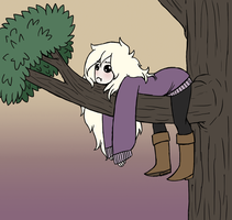 I'm stuck in a tree by MissThunderkin