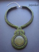 Jade shackled necklace by jagienkaa