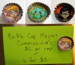Bottle Cap Magnet Info by MissChibiChild