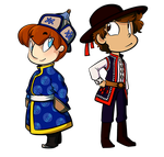 Simon and Vya - Traditional Clothes by saxitlurg