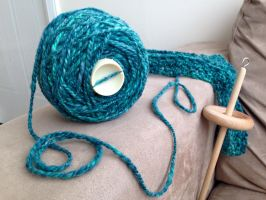 2-ply Merino yarn handspun using a Drop Spindle by TombRaiderKuchen