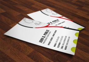 Tennis Coach Business Cards by es32